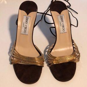 Jimmy Choo heels strappy Sandals Size 36.5